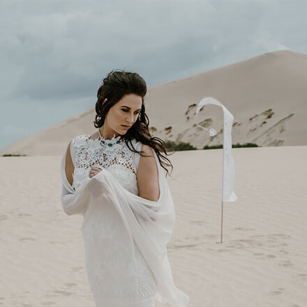 Bridal editorial - creative direction and photography.